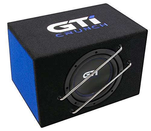 Crunch GTI 800A - Aktiver Subwoofer | Aktivsubwoofer 20cm Bassreflex BASS Gehäuse | GTI800A