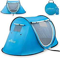 Pop Up Tent - Automatic Instant Tent - Portable Cabana Beach Tent