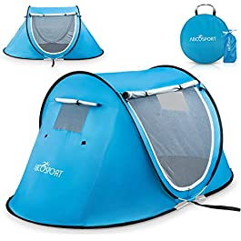 Pop-up Tent and Automatic Instant Portable Cabana Beach, Camping Tent Pop Up Shade Tent – Suitable for 2 People – 2…