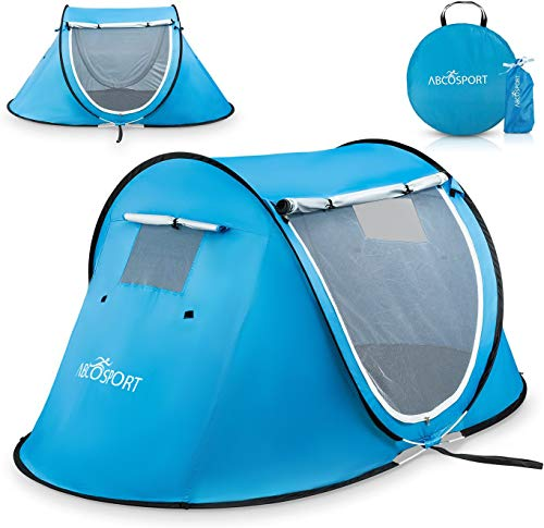 Pop-up Tent an Automatic Instant Portable Cabana Beach Tent - Suitable for Upto 2 People - Doors on Both Sides - Water-Resistant and UV Protection Sun...