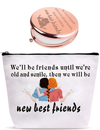 We'll be Friends,New Best Friends Makeup Bag,Good Friend Gifts for Women,We Will be Friends Until We are Old,Well be Friends Cosmetic Bag,Friendship Gift for Women,Birthday Gifts for Friends Female