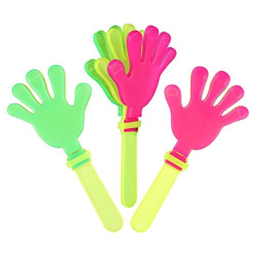 NUOBESTY Kunststoff-Handklöppel, Noisemakers Spielzeug, sortierte Klatschhände für Partykonsert, 20 Stück