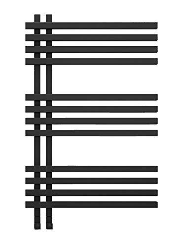 anapont Radiador eléctrico de baño Terra, color negro, función de temporizador, toallero...