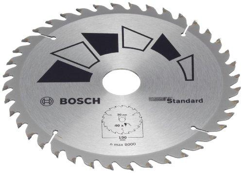Bosch 2609256821 DIY Kreissägeblatt Basic 190 x 2.2 x 30/24,Z40
