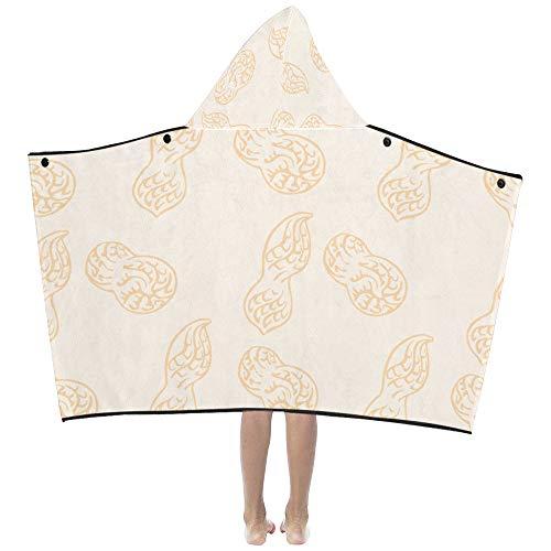 Peanut Little Beans Daily Food Soft Warm Kids Dress Up Hooded Wearable Coperte da bagno Asciugamani Throw Wrap Per i più piccoli Bambino Ragazza Boy Size Home Viaggi Picnic Sleep Gift