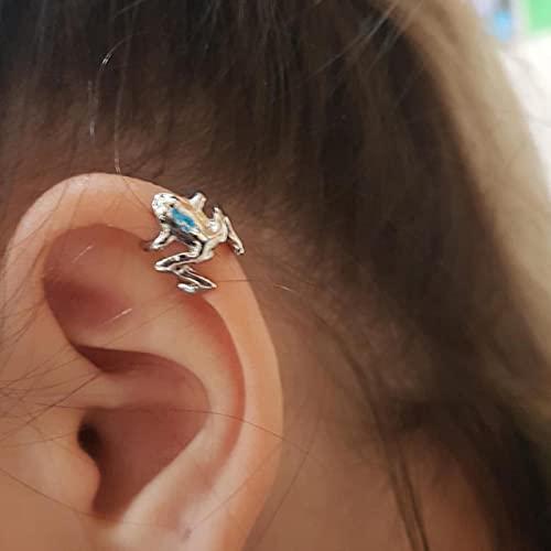 SONGK Polsini dell'orecchio della Rana Punk Gotico di Tendenza per Le Donne degli Uomini Orecchini a Clip Animali Orecchini a Bottone con Clip in Lega Regalo