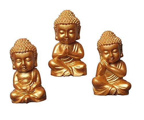 3pcs Buddha Lifelike Fridge Magnets Refrigerator Magnets For Wall Decor