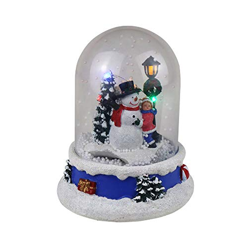 Top Treasures Musical Snow Globe with Snowman & Child | Lighted Christmas Village | Perfect Addition to Your Christmas Indoor Decorations & Christmas Village Displays
