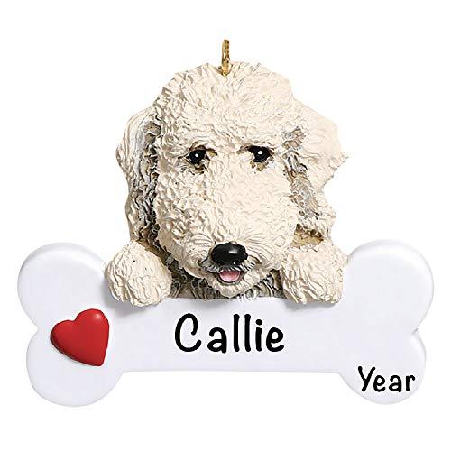 Holiday Traditions Dog Christmas Tree Ornaments 2021 – Personalized Dog Ornaments for Christmas Tree – Polyresin Labordoodle Dog Christmas Ornaments, Labordoodle Dog Ornament – Labordoodle Gifts