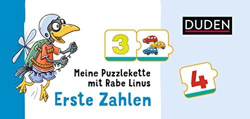 Meine Puzzlekette mit Rabe Linus - Erste Zahlen
