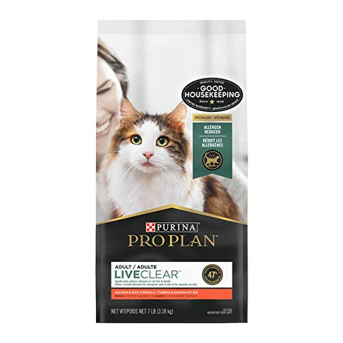 Purina Pro Plan with Probiotics Dry Cat Food, LIVECLEAR Salmon & Rice Formula - 7 lb. Bag