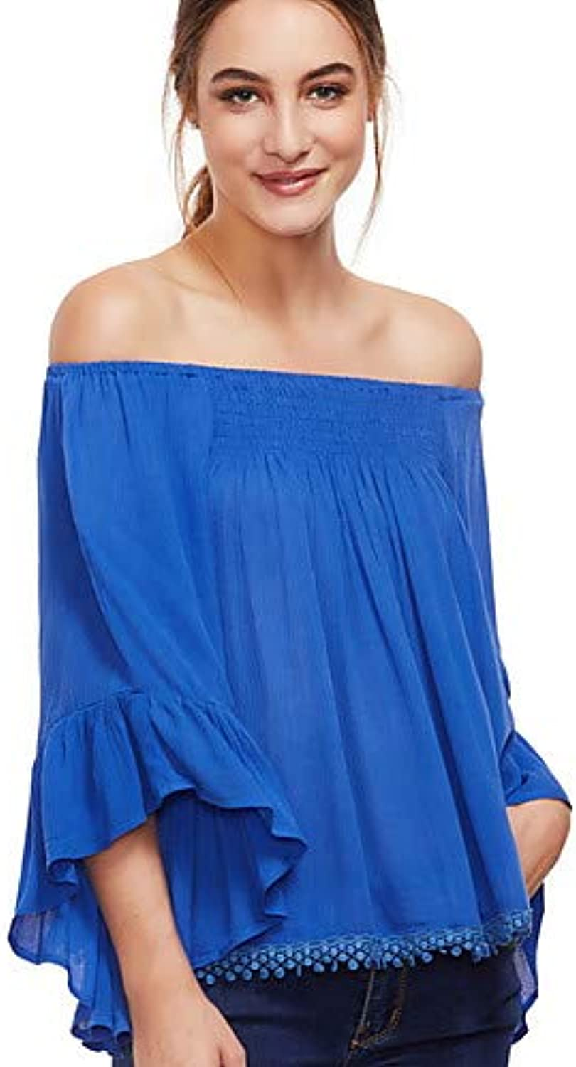 Women's Basic Blouse  Solid colord Pleated