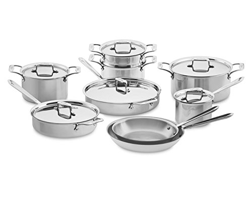 All-Clad 8400001035 SD501015-R Cookware Set, 15-Piece, Silver