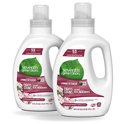 Seventh Generation Concentrated Laundry Detergent, Geranium Blossom &...