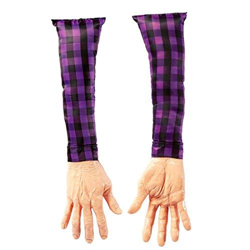 NET TOYS Abgetrennte Arme Horror Leichenteile Hände Schocker Artikel Leiche Scherzartikel Fun Handattrappe Halloween Dekoration