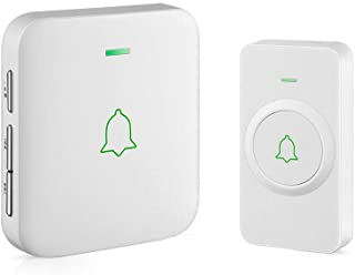 Wireless Door Bell, AVANTEK CW-11 Mini Waterpoof Doorbell Chime Operating at 1000 Feet..