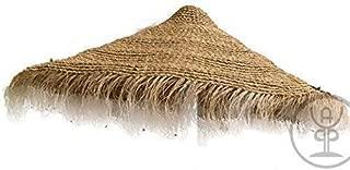 Cubierta de esparto natural con flecos para sombrilla