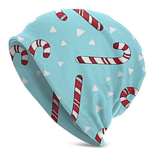 Gorro de Punto Gorros Gorro de Calavera Bastones de Caramelo navideños Gorro de Punto Grueso de Moda de Vacaciones, Gorro de Moda Personalizado para Hombres y Mujeres