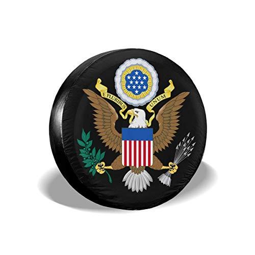 Cubierta de llanta de refacción Emblema Nacional de EE. UU. Protectores de Llantas Cubiertas de Llantas 16 '' Pulgadas
