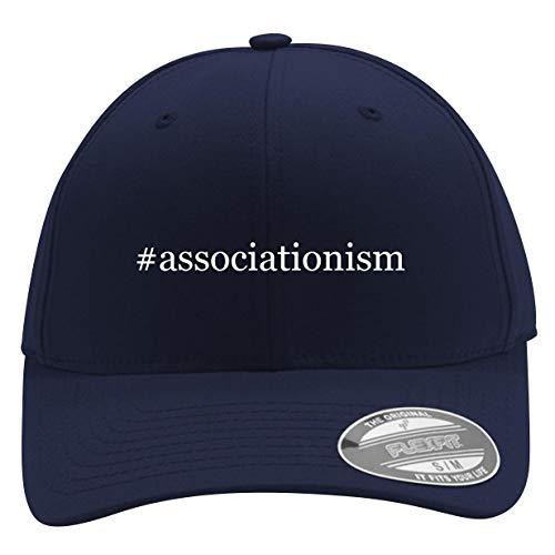 #Associationism - Men's Hashtag Flexfit Baseball Cap Hat, Dark Navy, Large/X-Large