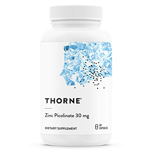 Thorne Research - Zinc Picolinate 30 mg - Supplemento di Zinco Ben Assorbito per la Crescita - 60 Capsule