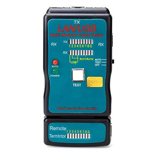 ZNSH Circuit Breaker Finder, CT-168 Multi-Modul Netzwerk RJ45 Cat5 RJ11 Ethernet-Thermal-Kabel LAN-USB-Tester und USB-Kabel-Test