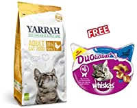 Yarrah Organic Cat Food with Chicken 2.4kg is a highly digestible, tasty and complete cat meal. It contains all the essential nutrients in balanced amounts for a healthy and active cat life. The main source of protein is chicken, which yields high-qu...