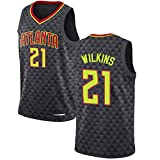 TGSCX City Edition Men's Baloncesto Jersey NBA Atlanta Hawks 21# Dominique Wilkins Cómodo/Ligero/Transpirable Malla Bordada Swing Swing Sworing Sweatshirt,XXL
