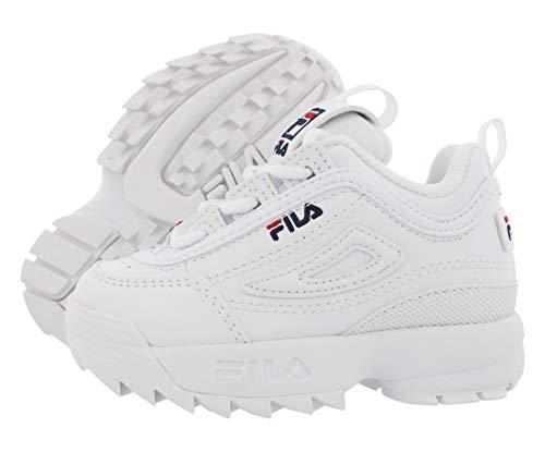 Fila - Scarpe da ragazzi Disruptor II, Bianco (bianco), 31 EU