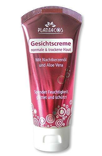 PLANTACOS Gesichtscreme für normale bis trockene Haut mit Nachtkerzenöl und Aloe Vera - 40 ml (3er Vorteilspack)
