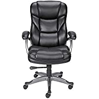Quill Brand Osgood High-Back Executive Chair, Bonded Leathe