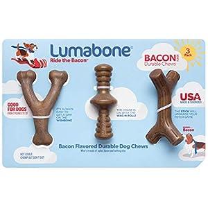 Lumabone Medium 3-Pack Durable Dog Chew Toys, Made in USA