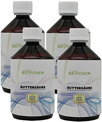 BS24CHEM buttersäure Reg.465608 4x500 Buttersäure Made by Karbid 24 C3H7COOH (4x500mI)