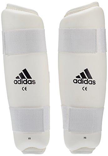adidas Schienbeinschoner Kickboxen PU Shin Guard, Weiß, L