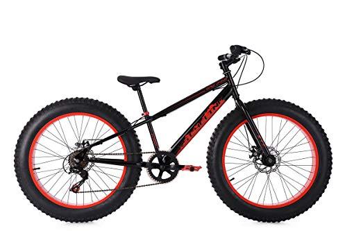 KS Cycling Mountainbike MTB Fatbike 24'' SNW2458 schwarz-rot RH33cm