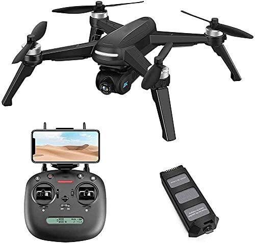 DCLINA Drone Pieghevole, Drone Senza spazzole con videocamera 2K FHD Video in Diretta, quadricottero a Lungo Tempo Volo, Ritorno a casa GPS, seguimi, Lungo Raggio Controllo