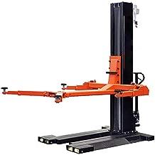 HPDMC 6,000Lbs Low Profile Mobile Single Column Automotive Lift Portable Single Post Lift Safety Lock Release…