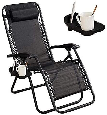 Sillas plegables al aire libre reclinable Silla plegable de jardín plegable tumbona tumbona sillas de jardín con taza y titular cubierta reclinable plegable cero gravedad silla al aire libre silla jar
