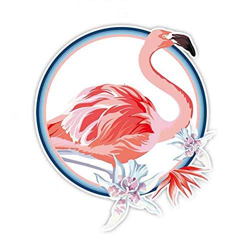GQQ Autosticker 16 cm * 14 cm mooie bloem Flamingo creatieve auto Sticker Decal Pvc badkamer bad toilet tegel luchtkussen A