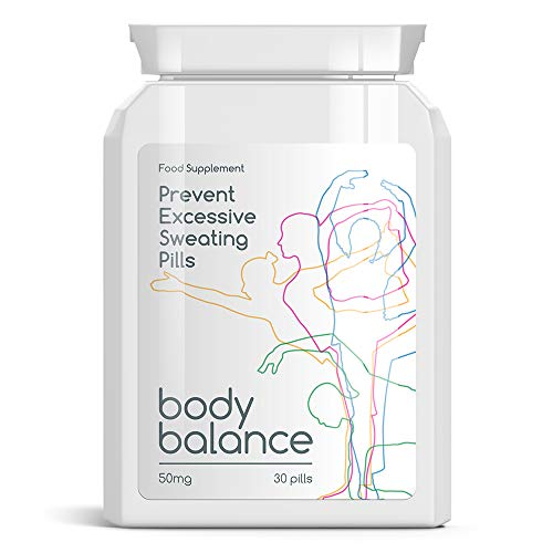 BODY BALANCE EXCESSIVE SWEATING PILLS PREVENIR PASTILLAS sudoración excesiva antisudor