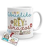 Kembilove Taza Abuelo – Tazas de Desayuno Graciosa para Abuelos con Mensaje Mi Abuelito el Rey de los Abrazos – Tazas...