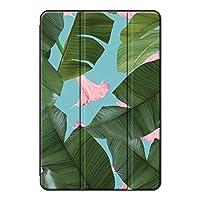 Sepikey iPad pro 9.7 2016/iPad Pro 保護カバー,三つ折 アンチドロップ PUレザー&PC 保護ショックプルーフ 傷防止 三つ折タイプ スタンドケース iPad pro 9.7 2016/iPad Pro Case-大きな葉+花