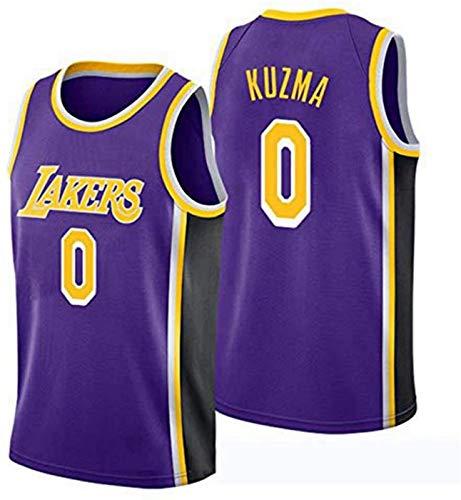 XHDH Jerseys De La NBA De Los Hombres - Lakers # 0 Kuzma Tela Transpirable Resistente Al Desgaste Transpirable Vintage Basketball Jerseys Chaleco Top Camiseta,Púrpura,XL 180~185cm