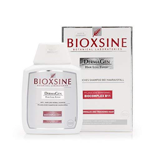 Shampoo für normales und trockenes Haar - gegen Haarausfall bei Frau und Mann | pflanzlicher Haarwaschmittel | Haarwuchs beschleunigen | schnelles Haar-Wachstum | Haarwuchs-mittel 300 ml | Bioxsine
