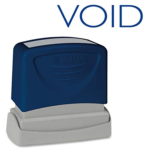 Sparco Void Title Stamp, 1-3/4 x 5/8 Inches, Blue Ink (SPR60020)
