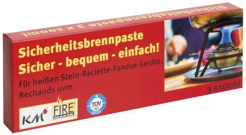 KM Firemaker 3 Stück à 80g Brennpaste für Fondue-Geräte Art. 316 (1)