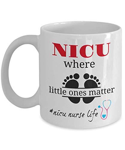 Nicu Nurse Mug Gift Coffee Tea Cup Ideas for Critical Care RN by DesignedGifts Printed In USA