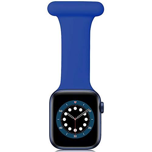 Correa Compatible con Apple Watch Correa Fob 40mm 38mm 44mm 42mm, diseño de Control de infecciones Fob de Silicona para Enfermeras parteras médicos paramédicos para iWatch Series SE/6/5/4/3/2/