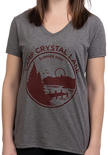 1980 Camp Crystal Lake Counselor Women's V Neck Tee, M to 3XL