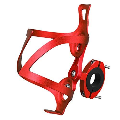 HSKB Fahrrad Flaschenhalter Getränkehalter 360 Grad Rotation Getränk Cup Halter Rotation Getränk Wasser Becherhalter Schnellverschluss für Fahrräder/Mountainbikes Fahrradzubehör (Rot)